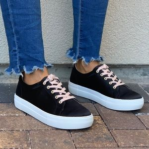 Anthropologie Shoes - Black Thick Platform Lace Up Sneakers